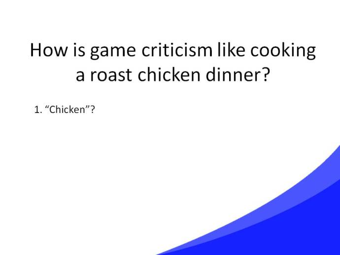 Game Criticism Cooking Slide19