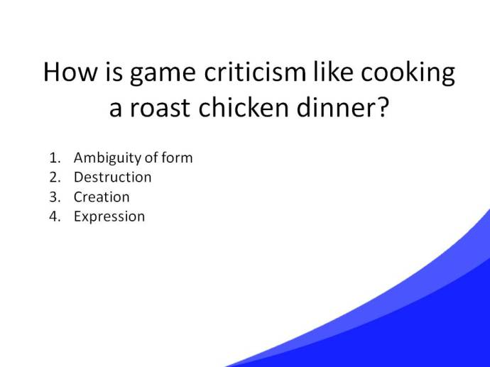 Game Criticism Cooking Slide33