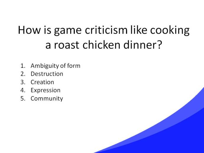 Game Criticism Cooking Slide36