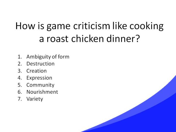 Game Criticism Cooking Slide43